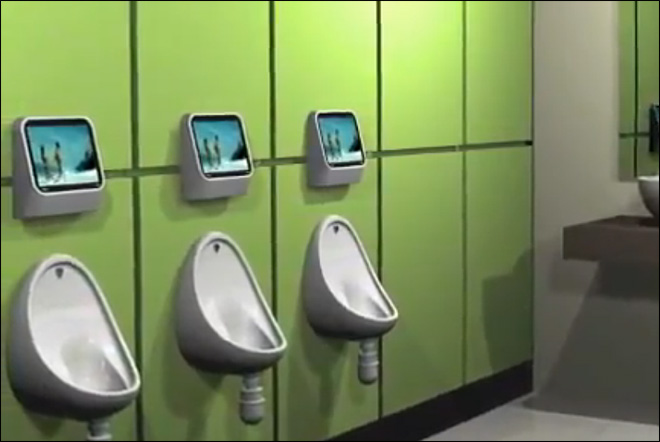 The new 'streaming media'? Baseball park  to use urinal gaming system