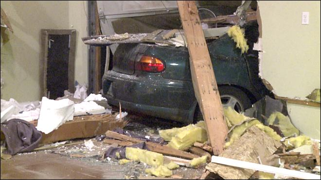 Driver loses control and smashes into dance studio