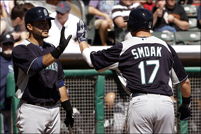 Morales, Smoak homer as M's beat Rockies 4-3