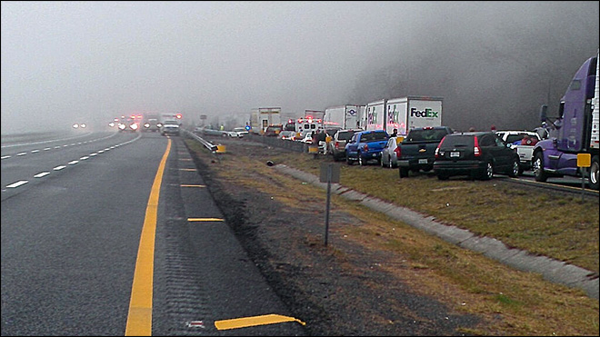 3 killed in 75-vehicle pileup at Virginia-N.C. line