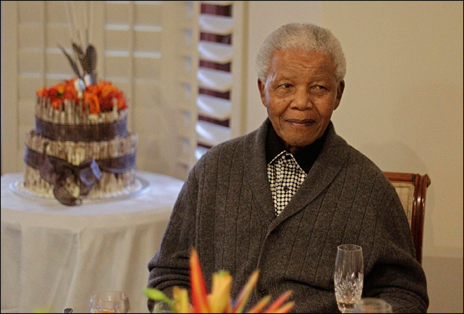 South Africa: Nelson Mandela in hospital on Easter