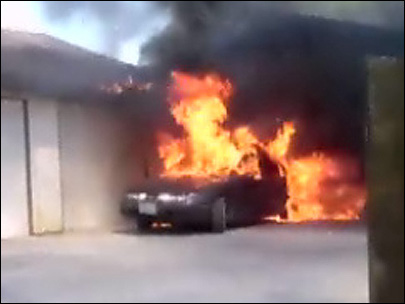 Car inferno caught on camera