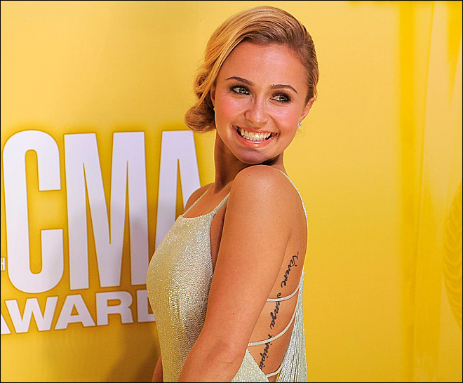Hayden Panettiere gets real about that misspelled tattoo
