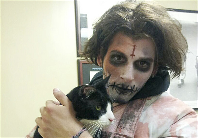NYC 'zombie' finds Long Island cat in Times Square