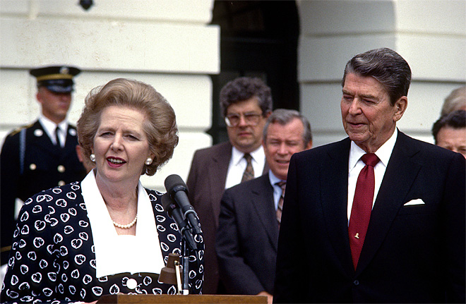 Reagan Meets Thatcher