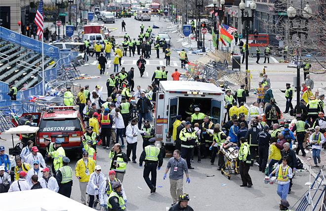 Two explosions at Boston marathon finish line