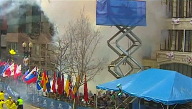 Watch: Boston Marathon explosion caught on camera