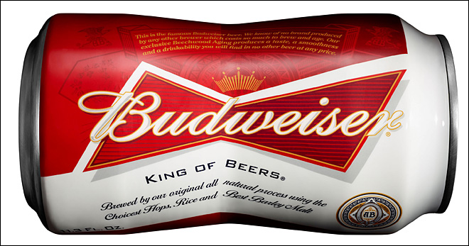 Budweiser introducing bowtie-shaped can