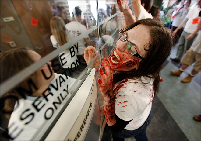 More than 100 'Zombies' invade college campus