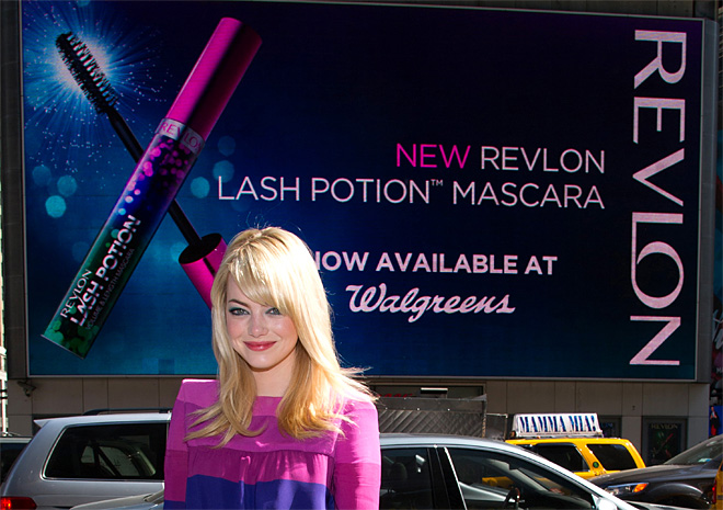 Emma Stone Launches New Revlon Lash Potion Mascara