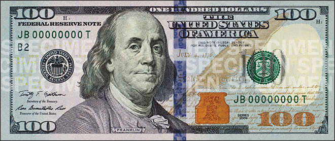 New $100 bill coming in October