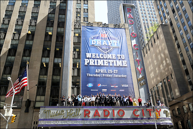 This year's NFL draft heavy on size, light on glamour