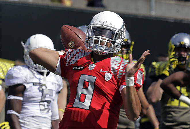 Oregon Spring Scrimmage Football