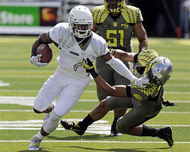 Oregon Spring Game Football