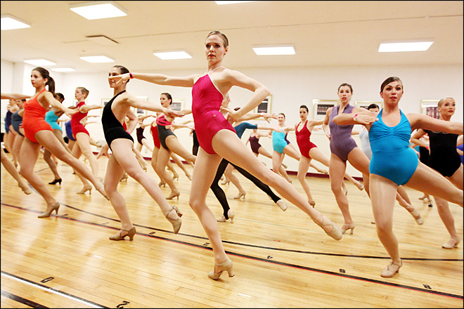 Dancers audition to appear with Rockettes in NYC