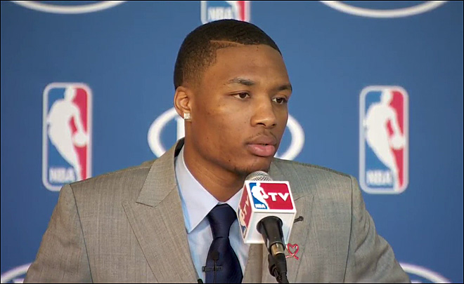 Video: Confident Lillard accepts Rookie of the Year Award