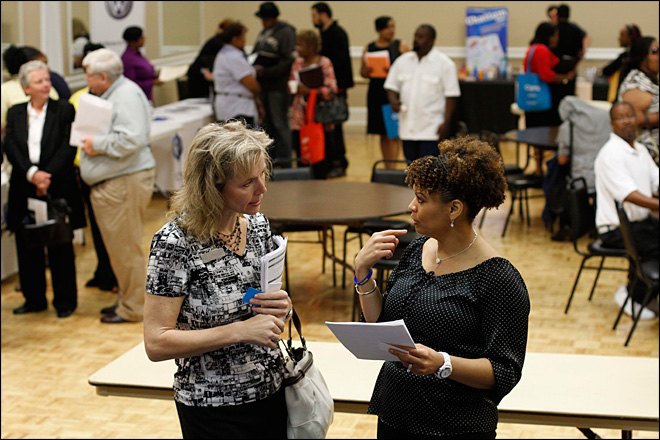 Jobless claims fall to 5-year low