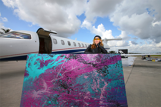 Flexjet / Jet Art Event for Learjet's 50th Anniversary