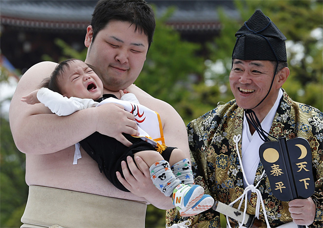 APTOPIX Japan Crying Baby Contest