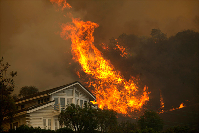 Cooler weather aids fight against Calif. wildfire