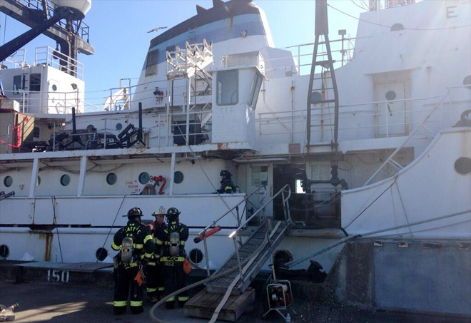 Crews extinguish smoldering NOAA ship fire in Seattle