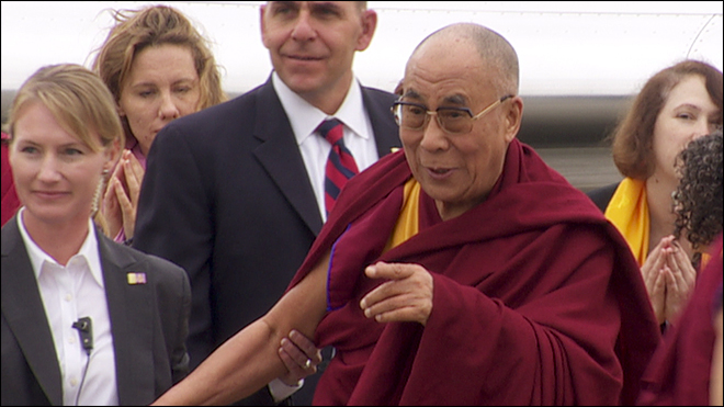 Dalai Lama arrives in Portland