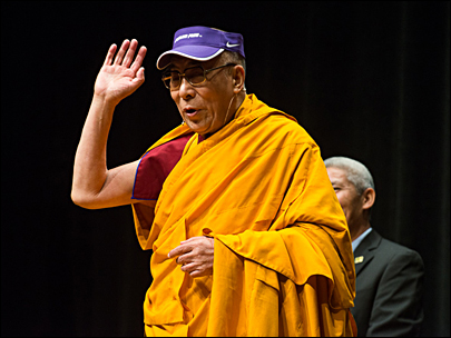 Traffic alert: Best to walk, bike or bus to Dalai Lama at UO