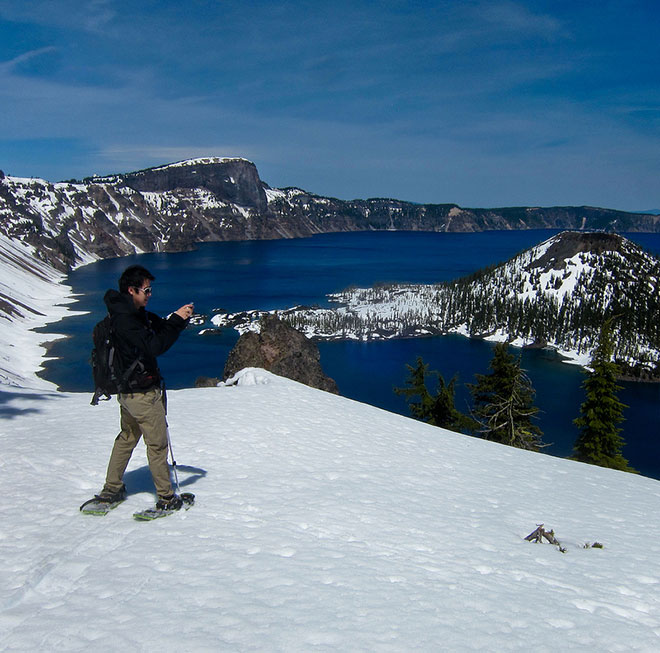 Crater Lake in late April 2013