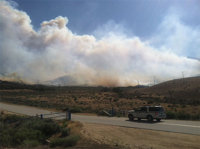 Wildfire in Frazier Park