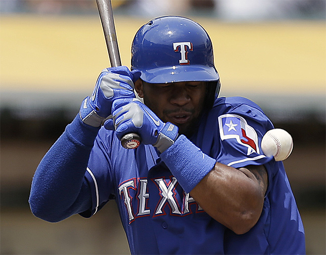 APTOPIX Rangers Athletics Baseball
