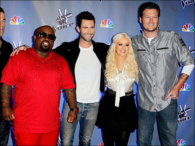 'The Voice' brings back Aguilera, Cee Lo Green