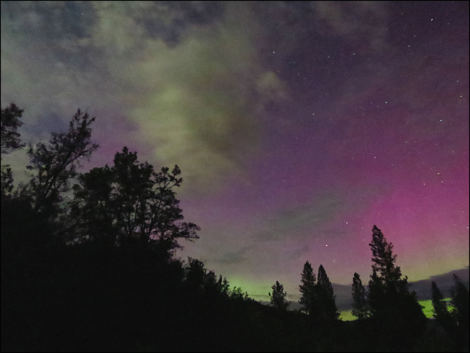 Northern Lights in Eastern Washington