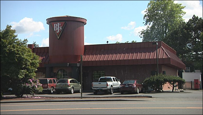 Two men wearing ski masks rob BJ's Restaurant at gunpoint