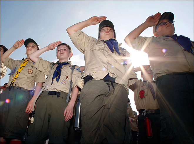 Boy Scouts open ranks to gay youth on Jan. 1