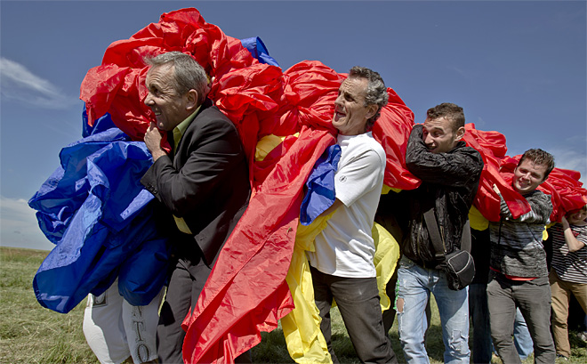 Romania Flag Guinness Record