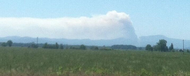 Fire puts smoke plume up over Willamette Valley