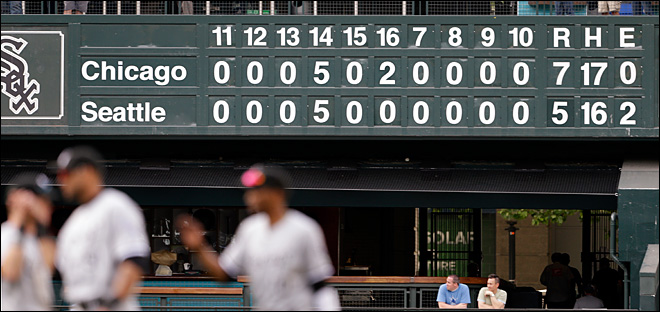 Mariners were 4 innings away from scoreboard mayhem