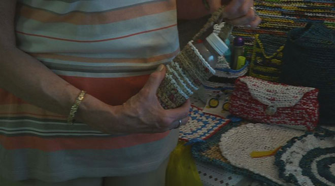 Creative crocheting with Albany's Bag Lady