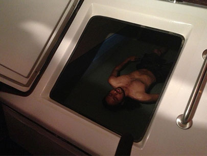 Float center offers saltwater sensory deprivation tanks