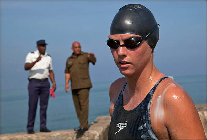 Australian swimmer sets off from Cuba for Florida