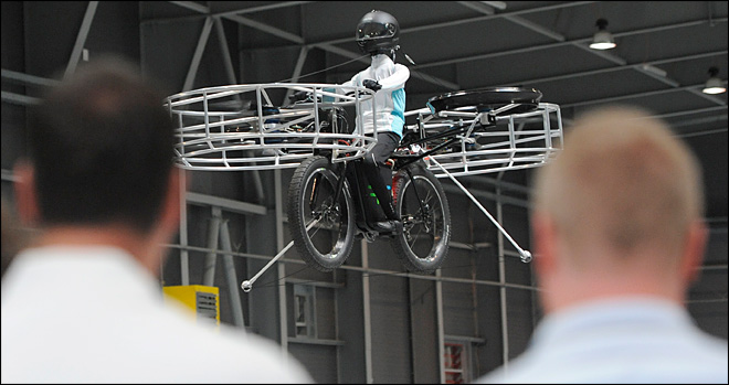 Flying bicycle takes to the air in Europe