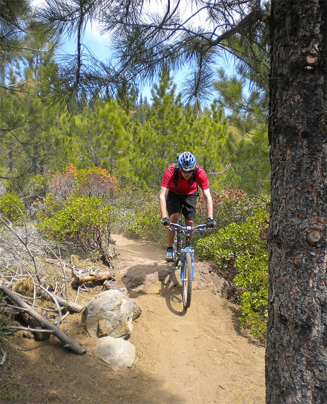 Gradual climb, fast descents on Oregon mountain bike trail