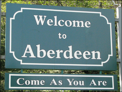 Kurt Cobain's home town keeps 'Come as you are' welcome sign