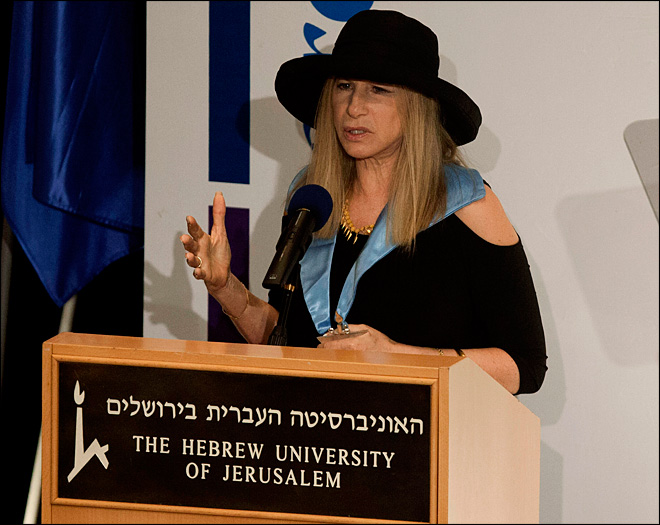 In Israel, Streisand criticizes treatment of women