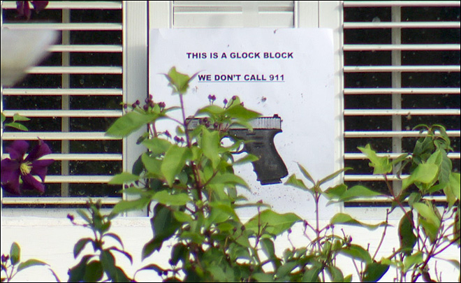 Taking neighborhood watch to a new level: The 'Glock Block'