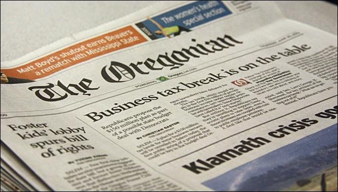 Oregonian newspaper cuts home delivery to 3 days per week