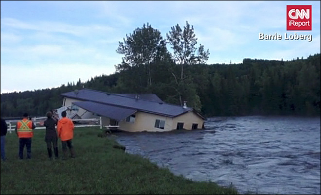 Calgary home swept away by flood waters