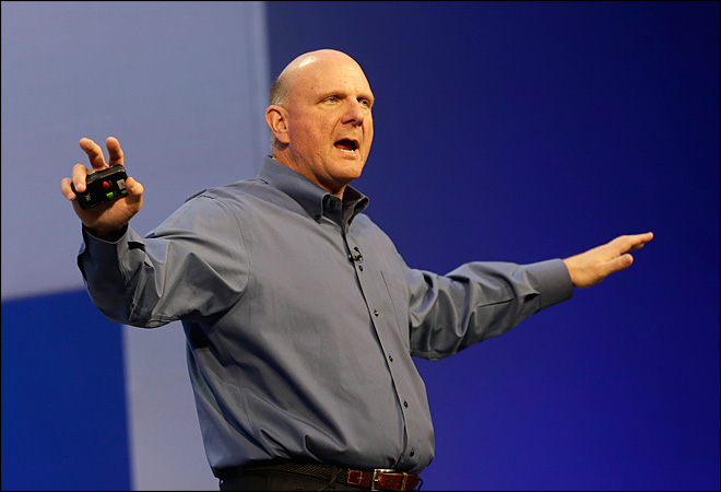 Microsoft's stock slumped under Ballmer