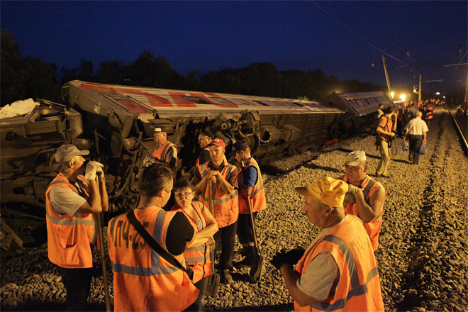 Russia Train Derailed