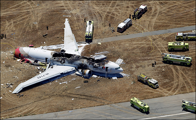 Unusual pattern of spine injuries seen in jet crash